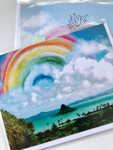 Rainbow Chinaman's Hat Greeting Card