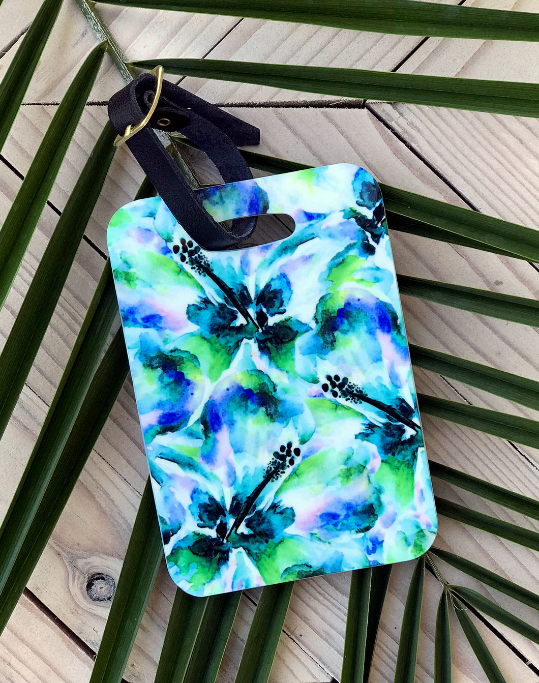 Wild Hibiscus Luggage Tag
