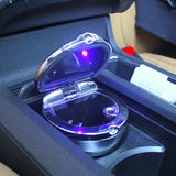 Car Ashtray with LED Light Silver JDM Accessories