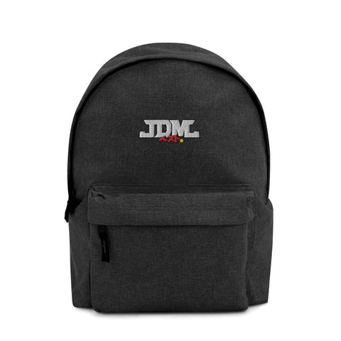 "JDM Backpack - ""Embroidered JDM-BEST"" Style Anthracite front"