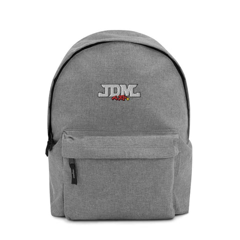 "JDM Backpack - ""Embroidered JDM-BEST"" Style Grey Marl"