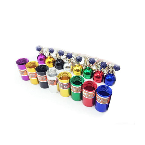 """NOS Bottles"" Key Ring Colors"