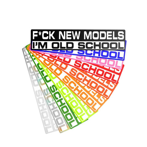 Fuck New Models JDM Stickers Colors Range Vintage