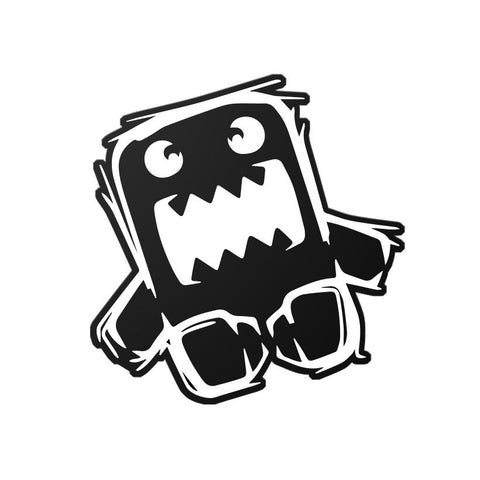 """Triggered Domo-Kun"" Stickers Black Mad"