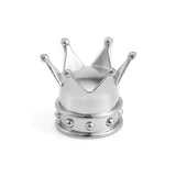 Drift King Crown Tire Valve Caps Silver