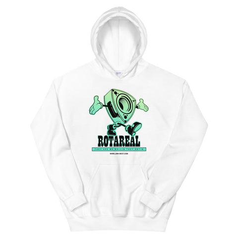 """Rotareal Green"" Style Unisex Hoodie White Rotary JDM"