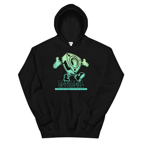 """Rotareal Green"" Style Unisex Hoodie Black Rotary JDM"