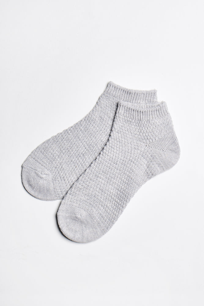Mae Moss Stitch Sock - Grey - ALAMAE