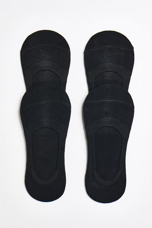 No-Show Sock 4-Pack - Black-Pack - ALAMAE