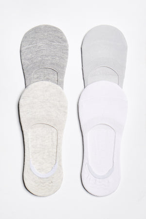 No-Show Sock 4-Pack - Grey-Pack - ALAMAE