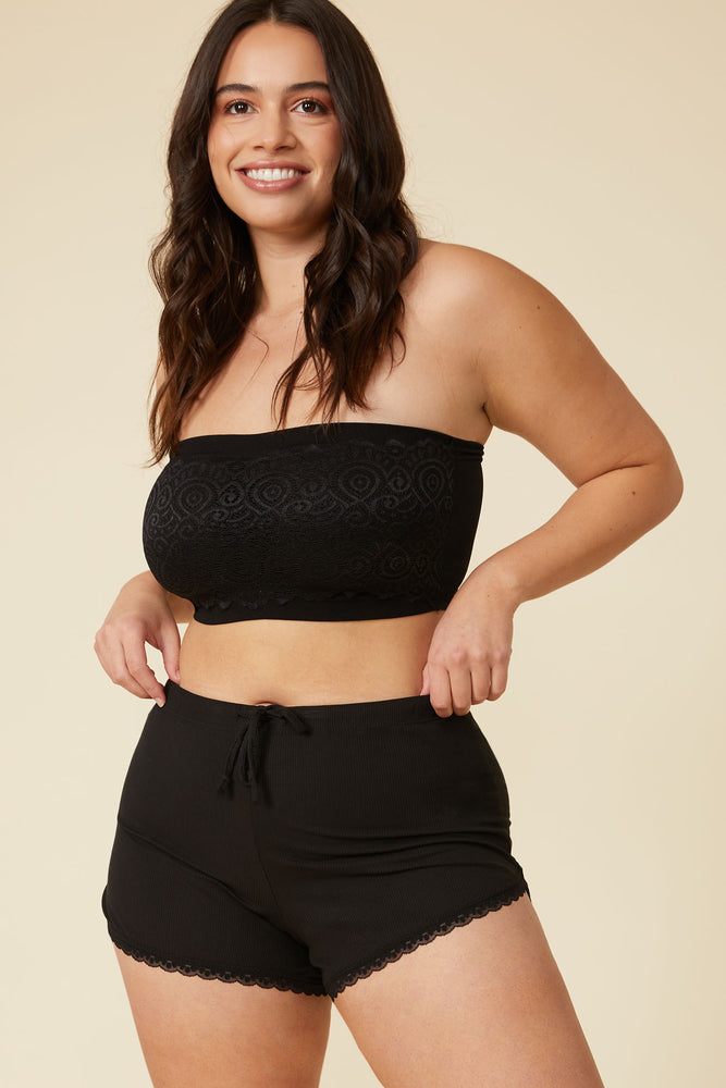 Billie Lounge Short in Black - ALAMAE