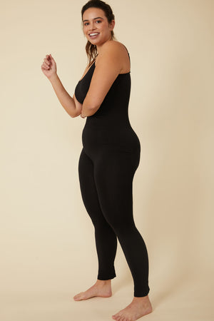Constellation Full Length Body Shaper Jumpsuit in Black - ALAMAE