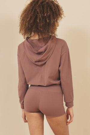 Load image into Gallery viewer, Naomi Cropped Hoodie - ALAMAE