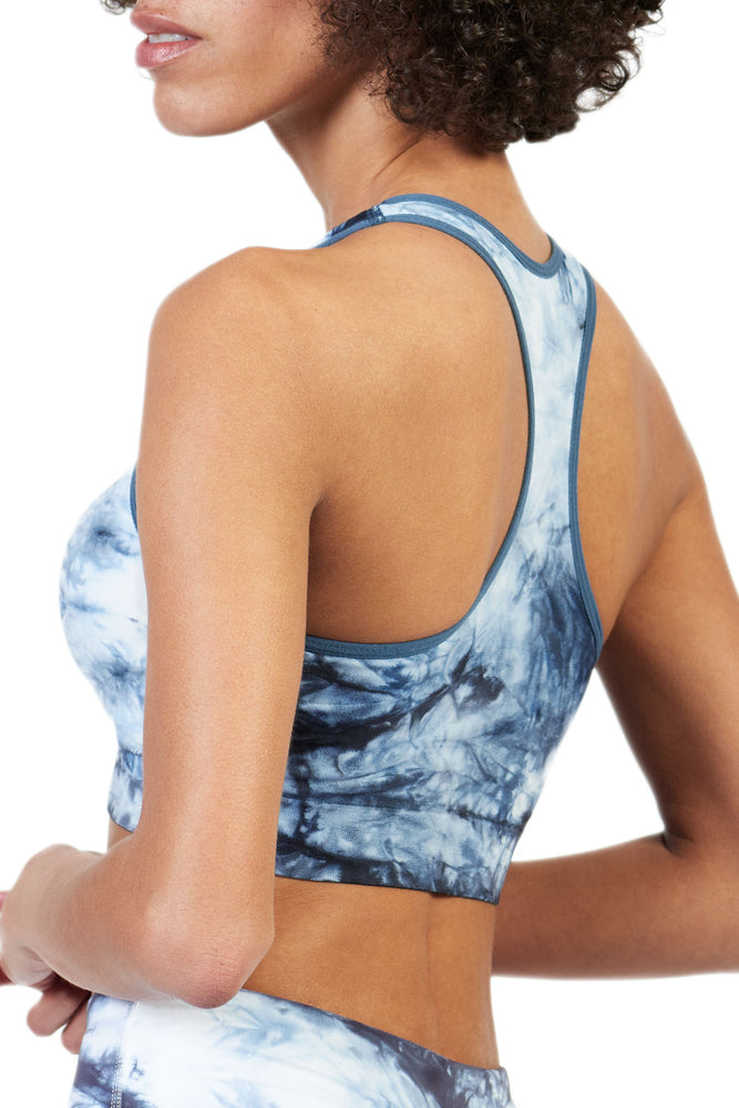 Dani Tie-Dye Bra in Blue-White - ALAMAE
