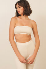 Gia Rib Bandeau in Natural White - ALAMAE