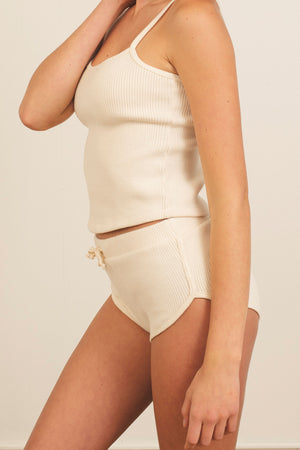 Load image into Gallery viewer, Gia Rib Short in Natural White - ALAMAE