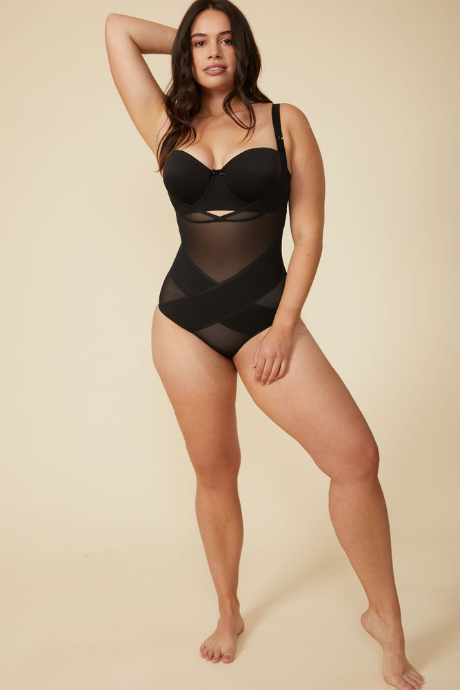 Simone Bodysuit in Black - ALAMAE