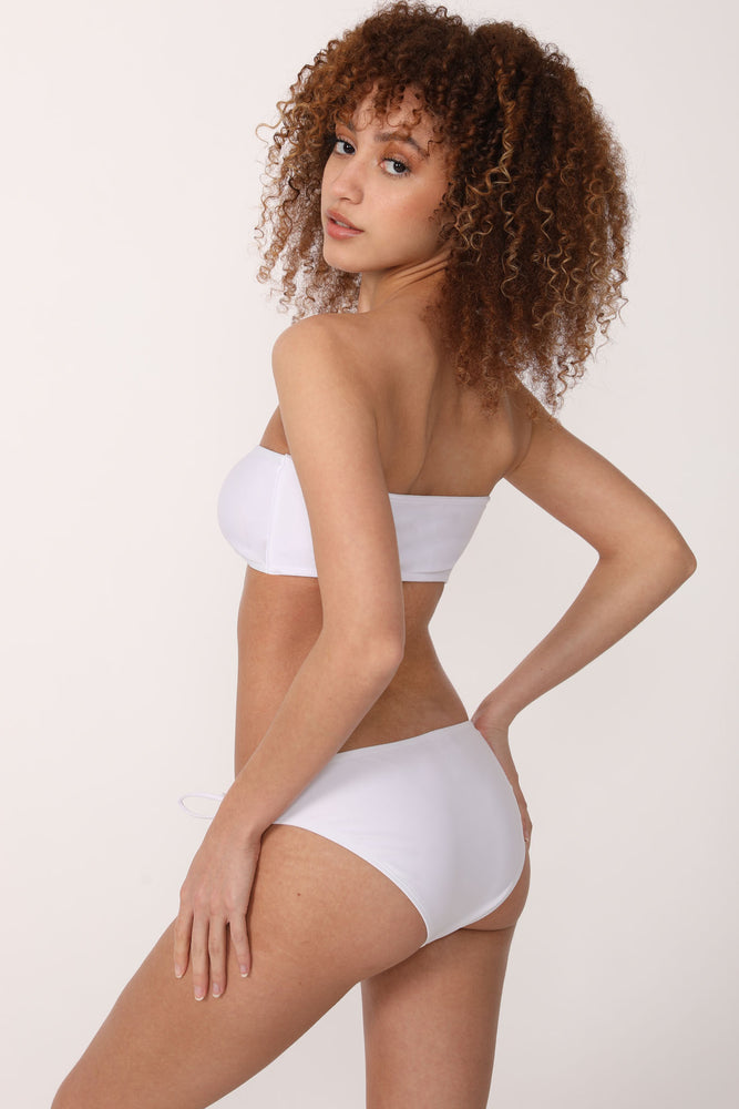 Kendall Bandeau Swim Set in White - ALAMAE