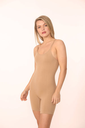 Flora Mid-Thigh Sculpting Bodysuit - ALAMAE