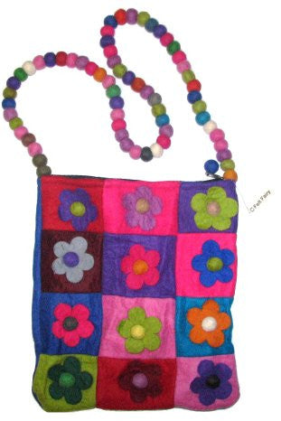 Funky Flower Bag - Blue