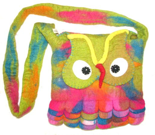 Owl Bag - green