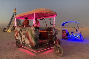 Burning Man Art Car Bike Custom build bikes and pedicabs online buy VIP Custom Cycles