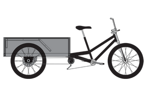 Flatbed Cargo Bike - VIP Custom Cycles