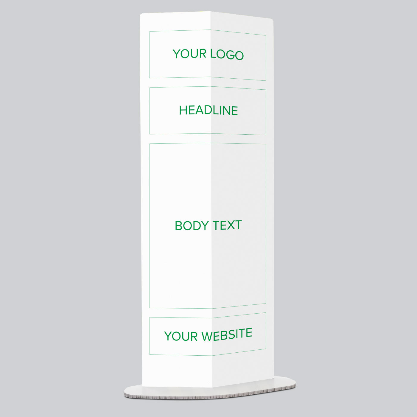 Text Only Personalised Pop Up Information Stand