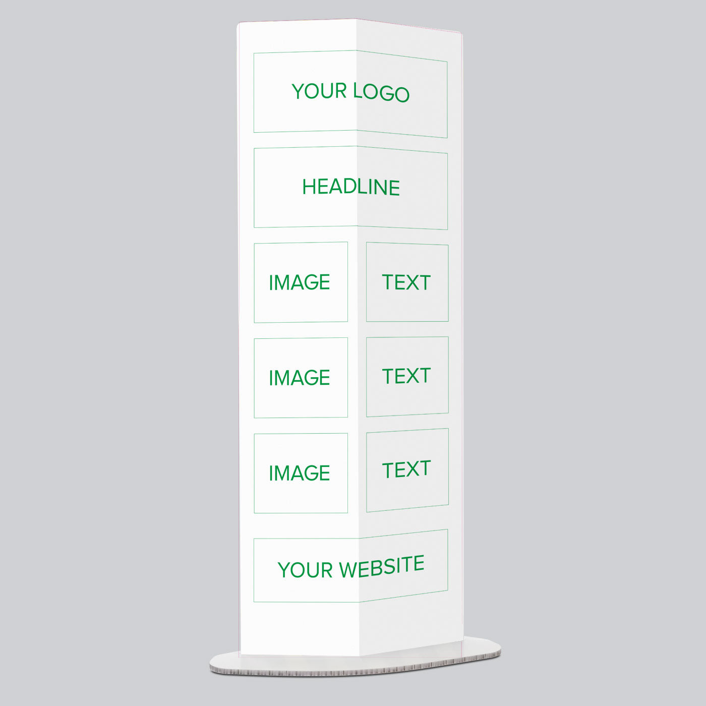 Three Image Personalised Pop Up Information Stand