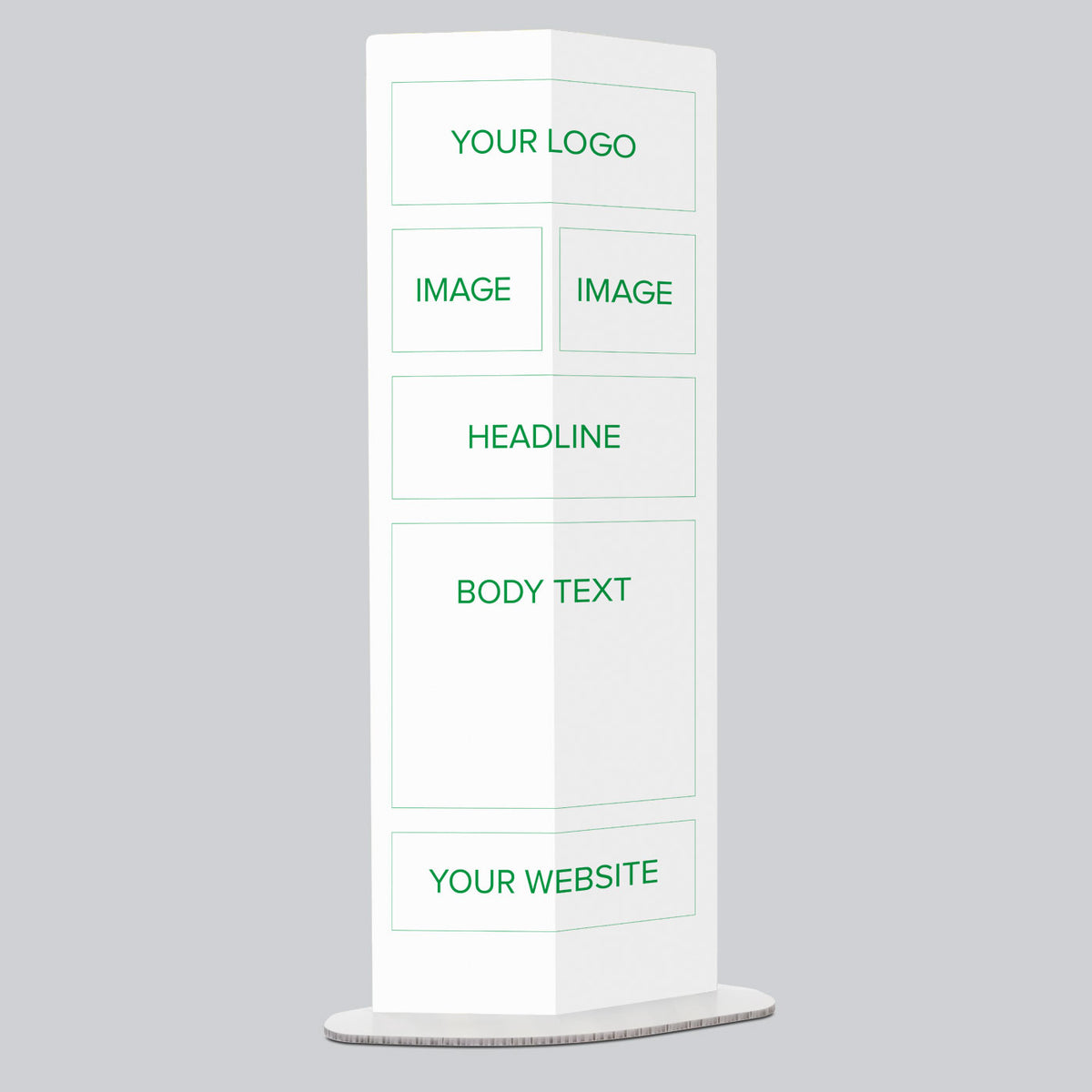 Two Image Personalised Pop Up Information Stand