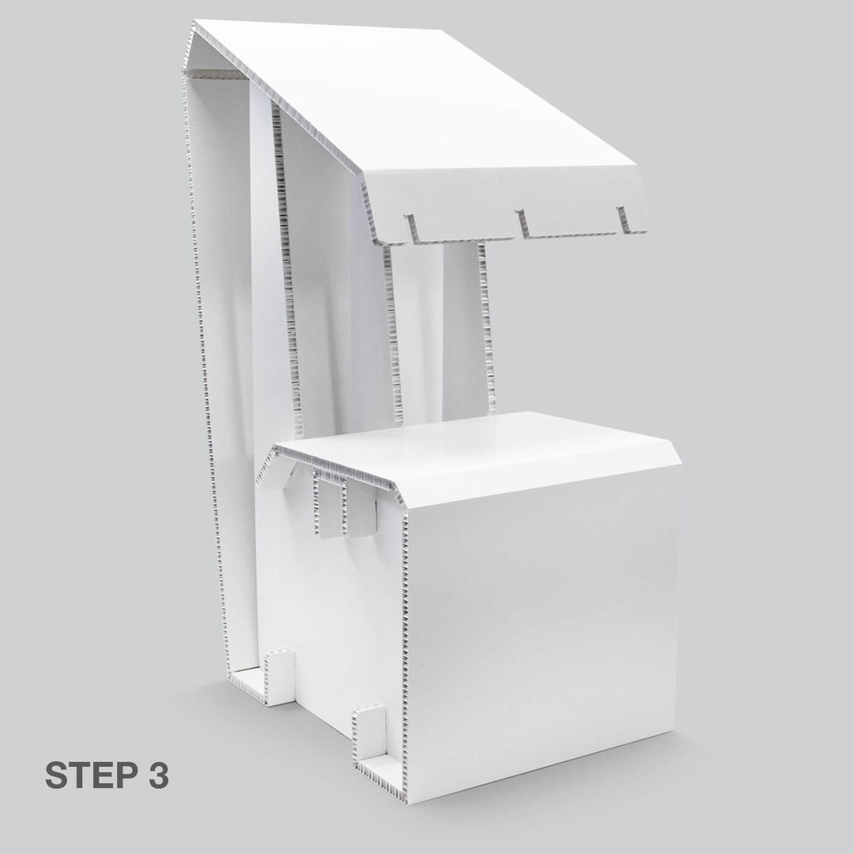 Stage 3 of White Chair for temporary home office solutions by Dufaylite