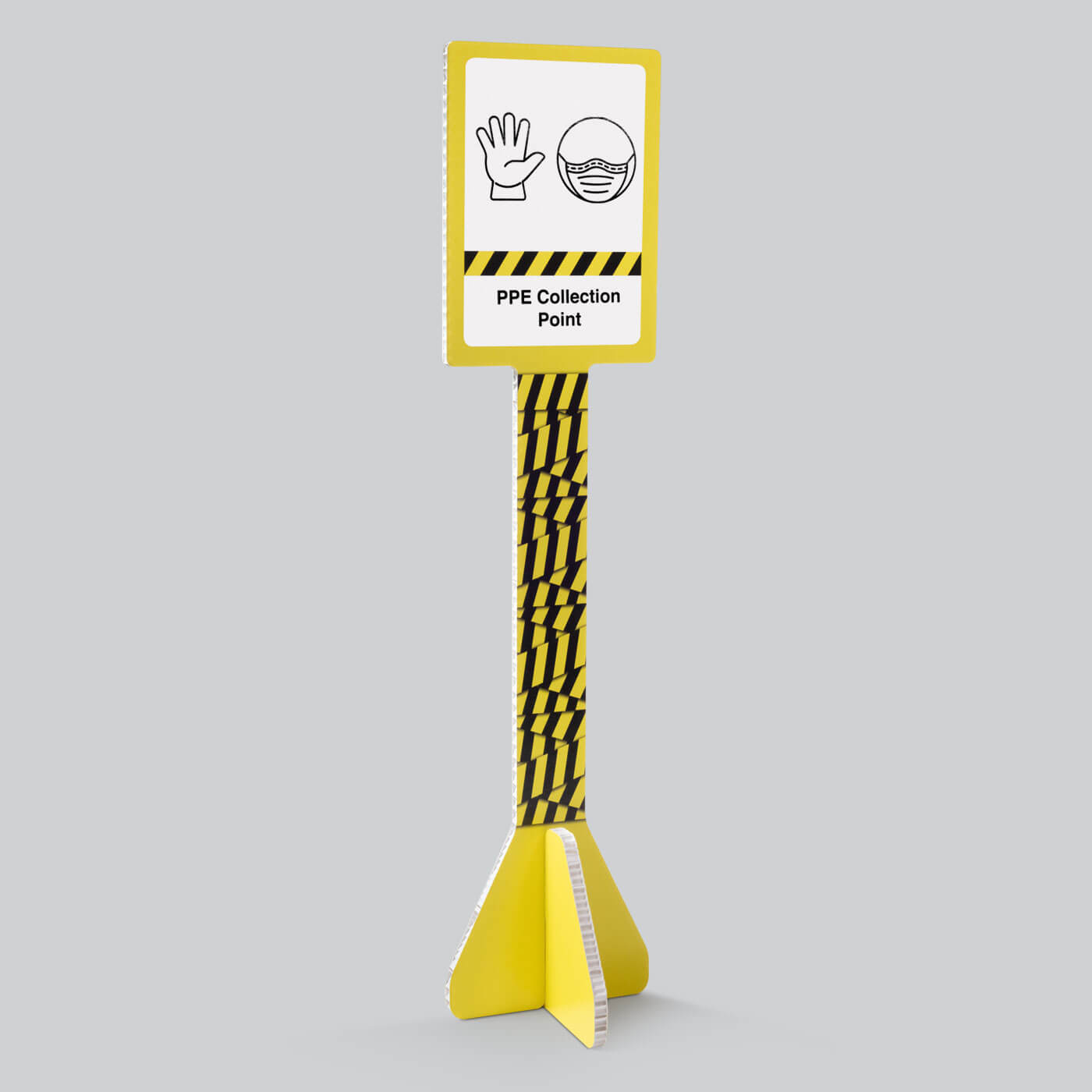 Coronavirus (Covid-19) PPE Collection Point floor standing sign by Dufaylite