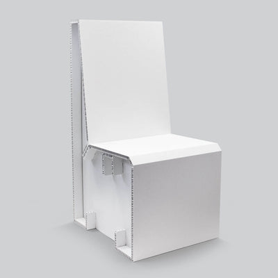 White Chair for temporary home office solutions by Dufaylite