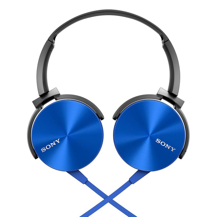 Sony MDR-XB450AP On-Ear EXTRA BASS Headphones with Mic (Blue)