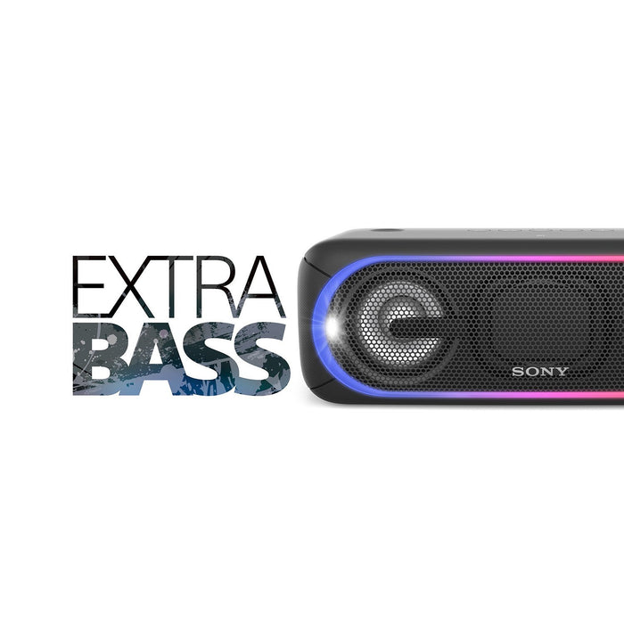 Sony SRS-XB40 Portable Bluetooth Speakers With Up to 24 Hours of Battery Life (Black)