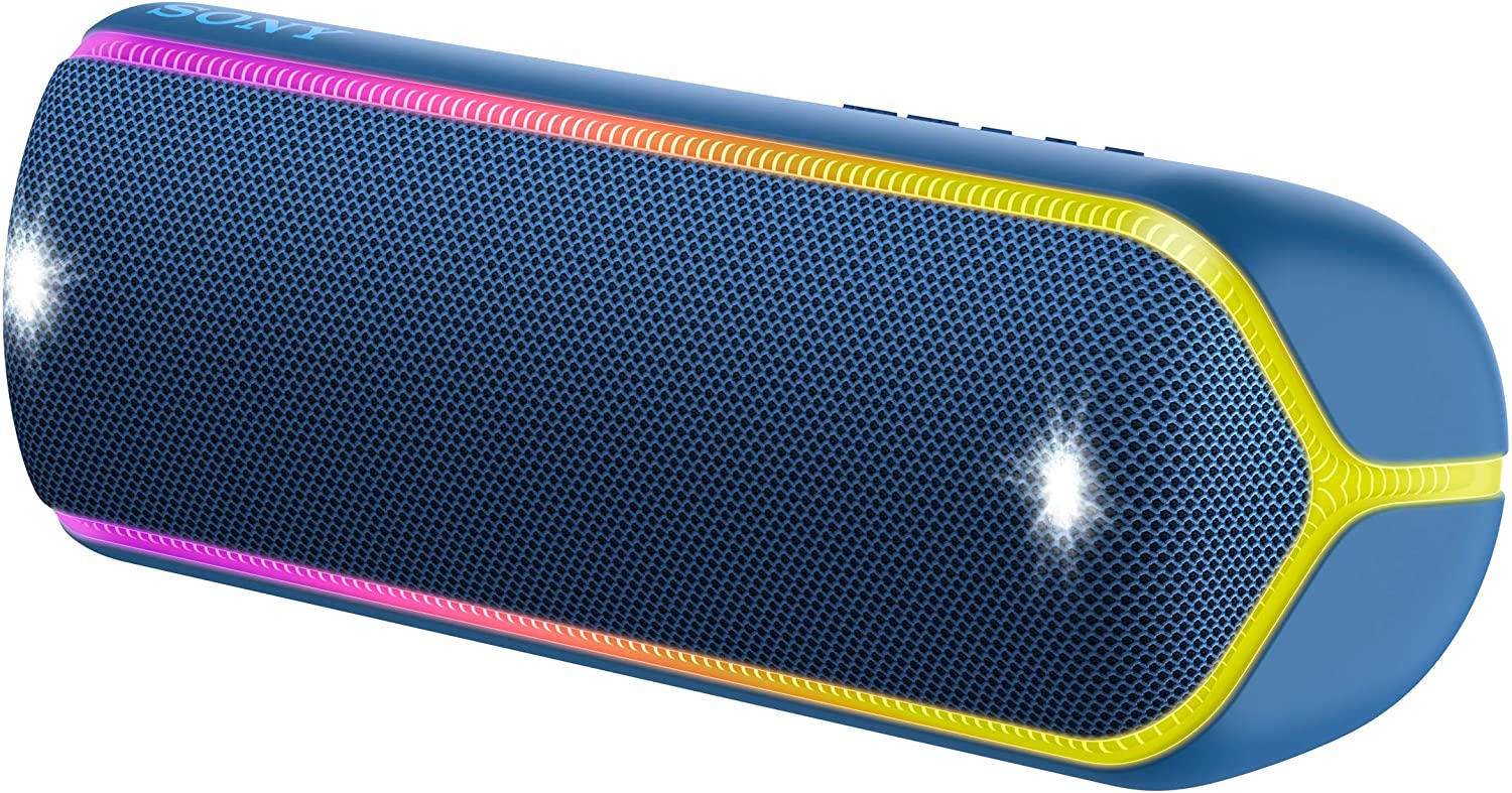 Sony SRS-XB32 Wireless Extra Bass Bluetooth Speaker with 24 Hours Battery Life (Blue)