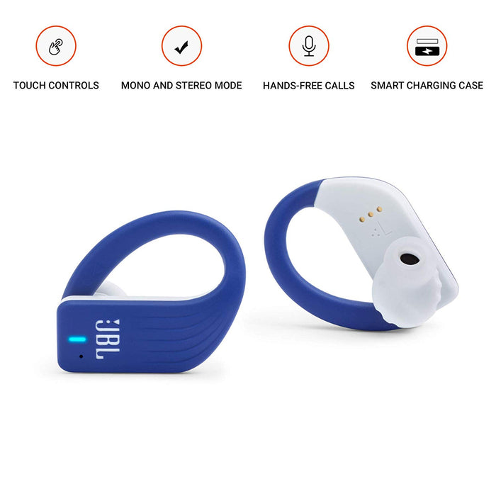 JBL Endurance Peak Waterproof True Wireless in-Ear Sport Headphones (Blue)