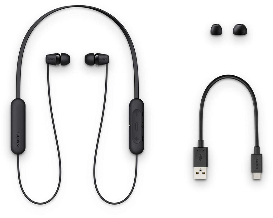 Sony WI-C200 Wireless In-Ear Headphones with 15 Hours Battery Life (Black)