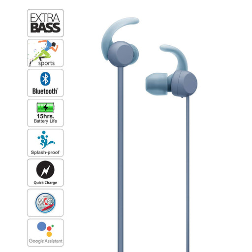 Sony WI-SP510 Wireless Sports Extra Bass in-Ear Headphones  Blue