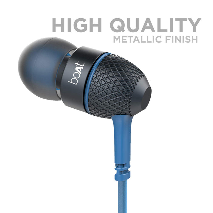 boAt BassHeads 220 Special Edition in-Ear Headphones with Mic (Blue)