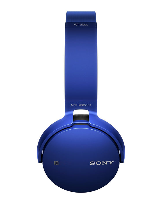 Sony MDR-XB650BT Wireless Extra Bass Headphones with 30 Hours Battery Life (Blue)