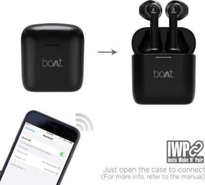 boAt Airdopes 131 Twin Wireless Earbuds with IWP™ Technology (Active Black)
