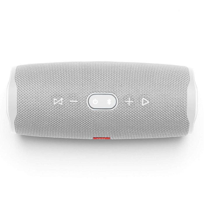JBL Charge 4 Powerful 30W IPX7 Waterproof Portable Bluetooth Speaker with 20 Hours Playtime & Built-in 7500 mAh Powerbank (White)