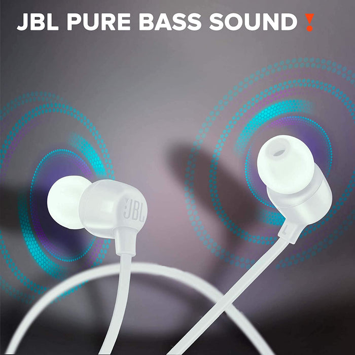 JBL Tune 165BT in-Ear Wireless Headphones with Dual Equalizer, 8-Hour Battery Life and Quick Charging (White)