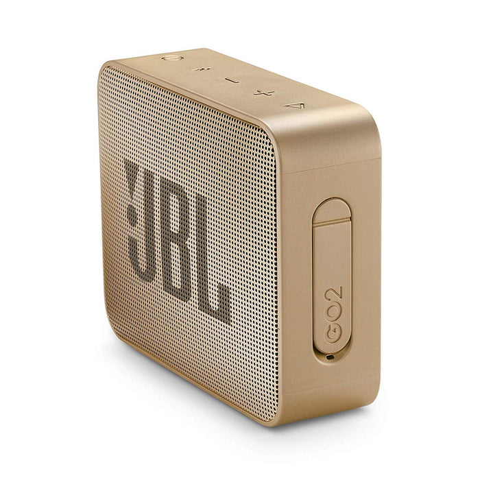 JBL Go 2 Portable Waterproof Bluetooth Speaker with mic (Pearl Champagne)
