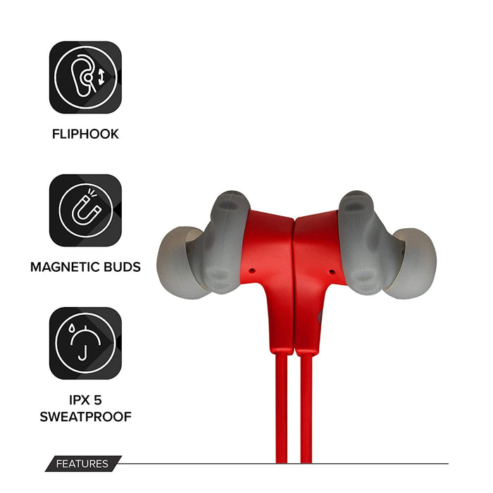 JBL Endurance Run BT Sweat Proof Wireless in-Ear Sport Headphones (Red)