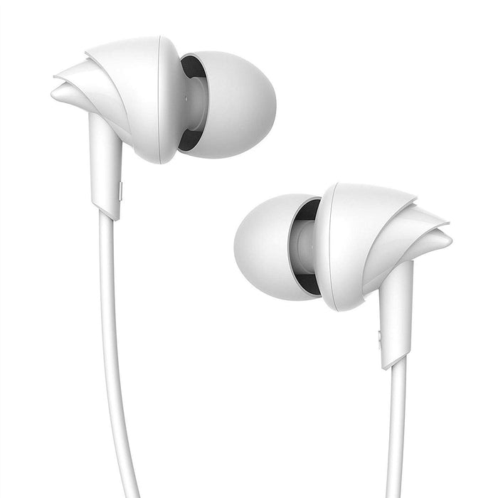 boAt BassHeads 110 in-Ear Headphones with Mic (White)