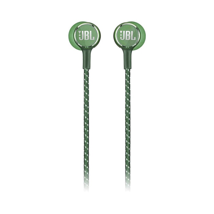 JBL Live 200 BT Wireless in-Ear Neckband Headphones with Three-Button Remote and Microphone (Green)