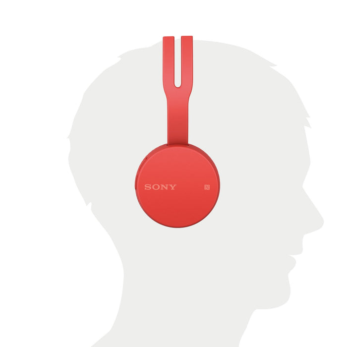 Sony WH-CH400 Wireless Headphones (Red)