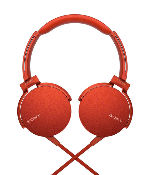 Sony MDR- XB550AP Extra Bass On-Ear Headphone, Red